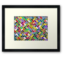 Colourful Mosaic Repeating Pattern Framed Print
