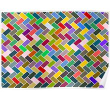 Colourful Mosaic Repeating Pattern Poster