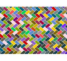 Colourful Mosaic Repeating Pattern Photographic Print