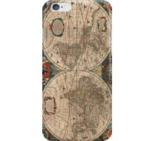 Vintage Map of The World (1641)  iPhone Case/Skin