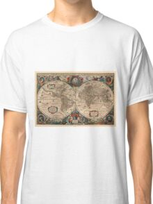 Vintage Map of The World (1641)  Classic T-Shirt