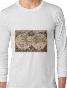 Vintage Map of The World (1641)  Long Sleeve T-Shirt