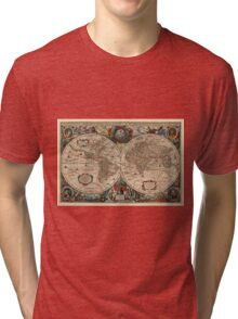Vintage Map of The World (1641)  Tri-blend T-Shirt