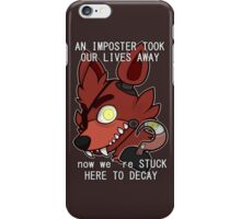 Foxy (TEXT) iPhone Case/Skin