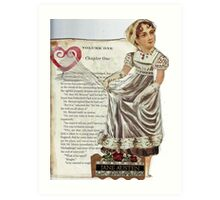 Jane Austen(A Tribute..) Art Print