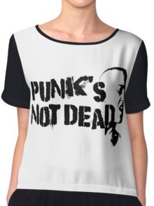 Punk Rock Revolution Rebel Anarchy Sex Pistols Exploited Cool Protest Anti System Cool T-Shirts Chiffon Top
