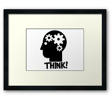 Clever Geek Smart Think Free Thinking Motivational Inspirational Spiritual Geeky Cool T-Shirts Framed Print