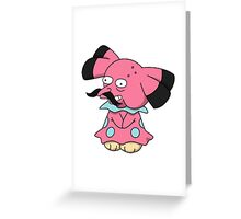 Snrubbull Greeting Card