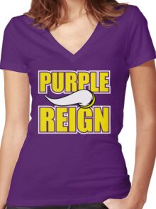 minnesota reign  Women's Fitted V-Neck T-Shirt