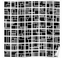 Lines and Squares Poster