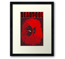 DEAD POOL  Framed Print