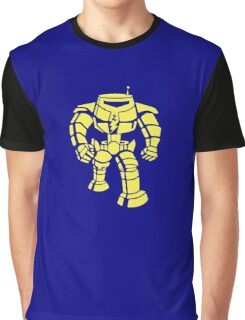 Manbot - Plain Blue Colour Variant Graphic T-Shirt