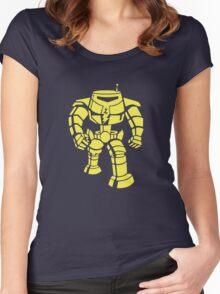 Manbot - Plain Blue Colour Variant Women's Fitted Scoop T-Shirt