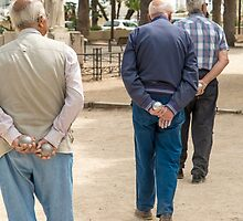 Petanque players in detail by DavidMay