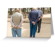 Petanque players in detail Greeting Card