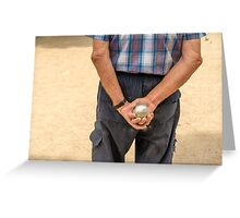 Petanque player Greeting Card