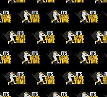 It's Game Time - Baseball (Yellow) (Pattern2) by Adamzworld