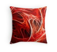 Abstract fractal red graphic Throw Pillow