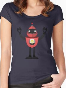 Robot Character #11 Women's Fitted Scoop T-Shirt