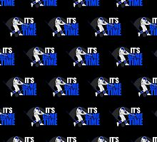It's Game Time - Baseball (Blue) (Pattern 2) by Adamzworld