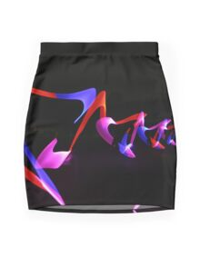 Abstract WOW - red, pink, purple Mini Skirt