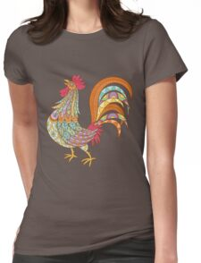 Beautiful Rooster Womens Fitted T-Shirt
