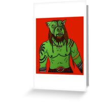 Dorc (Dog Orc) Greeting Card