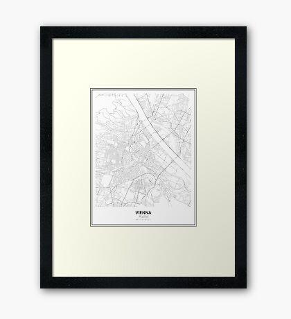 Vienna Minimalist Map Framed Print