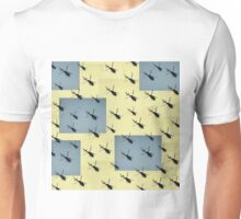 Helifly yellow and grey - Helimosca amarillo gris Unisex T-Shirt