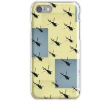Helifly yellow and grey - Helimosca amarillo gris iPhone Case/Skin