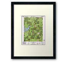 USGS TOPO Map California CA Camptonville 100595 2000 24000 geo Framed Print