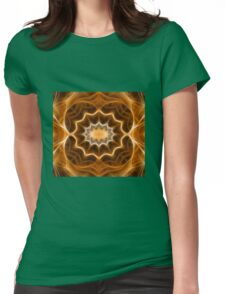 Fractal abstract color pattern Womens Fitted T-Shirt