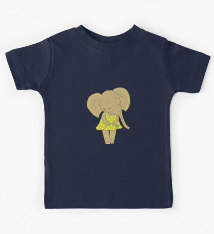 Cute elephant girl Kids Tee