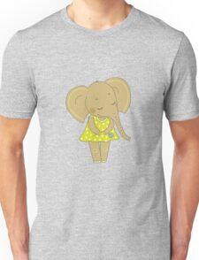 Cute elephant girl Unisex T-Shirt