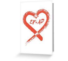 PLL's EF + AD - Emison Kissing Rock Heart Greeting Card
