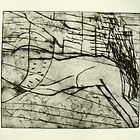 untitled drypoint etching done today by donnamalone