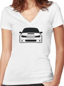 JDM sticker & Tee-shirt - Car Eyes STi 4 Women's Fitted V-Neck T-Shirt