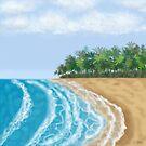 Beach Sky & Waves by Linda Allan