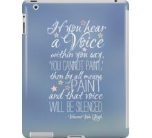 Beautiful quote by Vincent van Gogh iPad Case/Skin