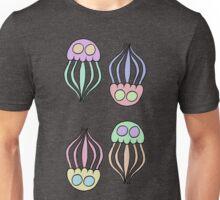 Jellyfishes- Black Background Unisex T-Shirt