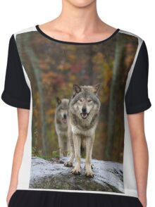 Double Trouble - Timber Wolves Chiffon Top