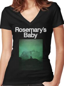 Rosemary's Baby Shirt! Women's Fitted V-Neck T-Shirt