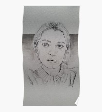 Anaïs Gallagher Pencil/Watercolour Drawing Poster