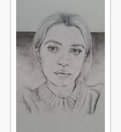 Anaïs Gallagher Pencil/Watercolour Drawing Sticker