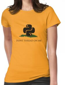 Python Snek - Don't Thread On Me Womens Fitted T-Shirt