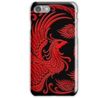 Traditional Red Chinese Phoenix Circle iPhone Case/Skin