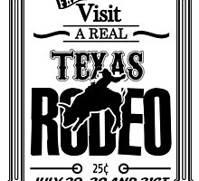 Old Texas Rodeo Vintage Poster by jonnyrowe