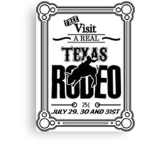 Old Texas Rodeo Vintage Poster Canvas Print