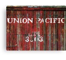 Union Pacific Wagon Canvas Print