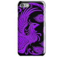 Traditional Purple Chinese Phoenix Circle iPhone Case/Skin